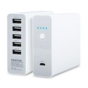 12000mAh 5-Port Portable Power Bank