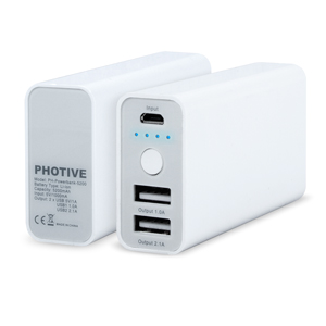 5200mAh Dual Port Portable Power Bank